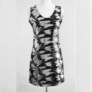 Black and Silver Sequin Front Dress